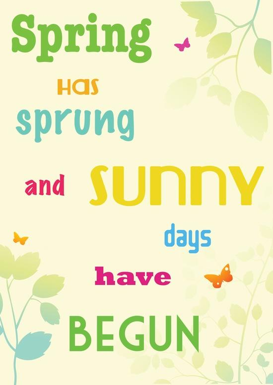 Welcome spring quotes quotesgram - Happy spring day image quotes ...