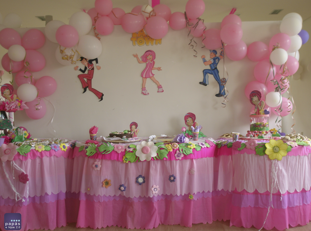 Decoraci n cumplea os de lazy town paperblog - Decoracion de mesa de cumpleanos infantil ...