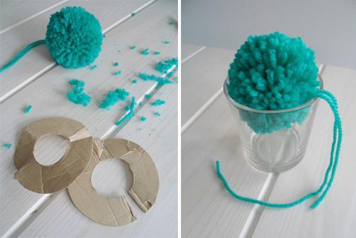 C mo hacer pompones de lana paperblog - Como se hacen los pompones ...