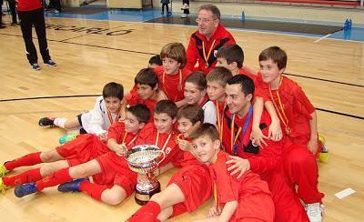 La Selección Navarra Benjamín Campeona de España al vencer a Asturias  (6-4)