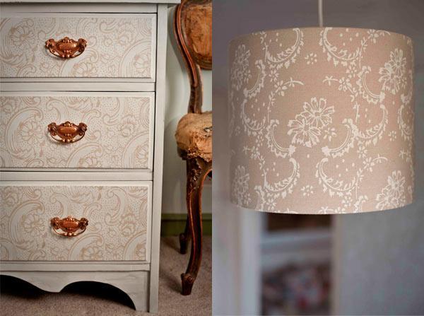 Rodillo para crear estampados una alternativa al papel pintado paperblog - Decorar muebles con papel ...