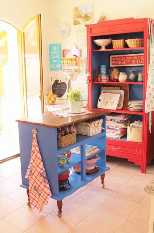 Una isla de cocina con una vieja c moda paperblog - Como hacer una isla de cocina ...