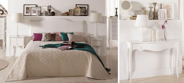Dormitorios en blanco con sabor vintage paperblog - Muebles blancos vintage ...