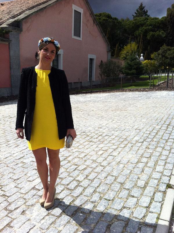 eb8d2dfed35 Look de boda  vestido amarillo+corona de flores - Paperblog