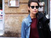 Double Denim Burgundy