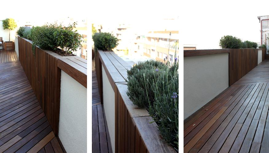 Especial jardines en ticos pavimentos de madera de - Jardines en aticos ...