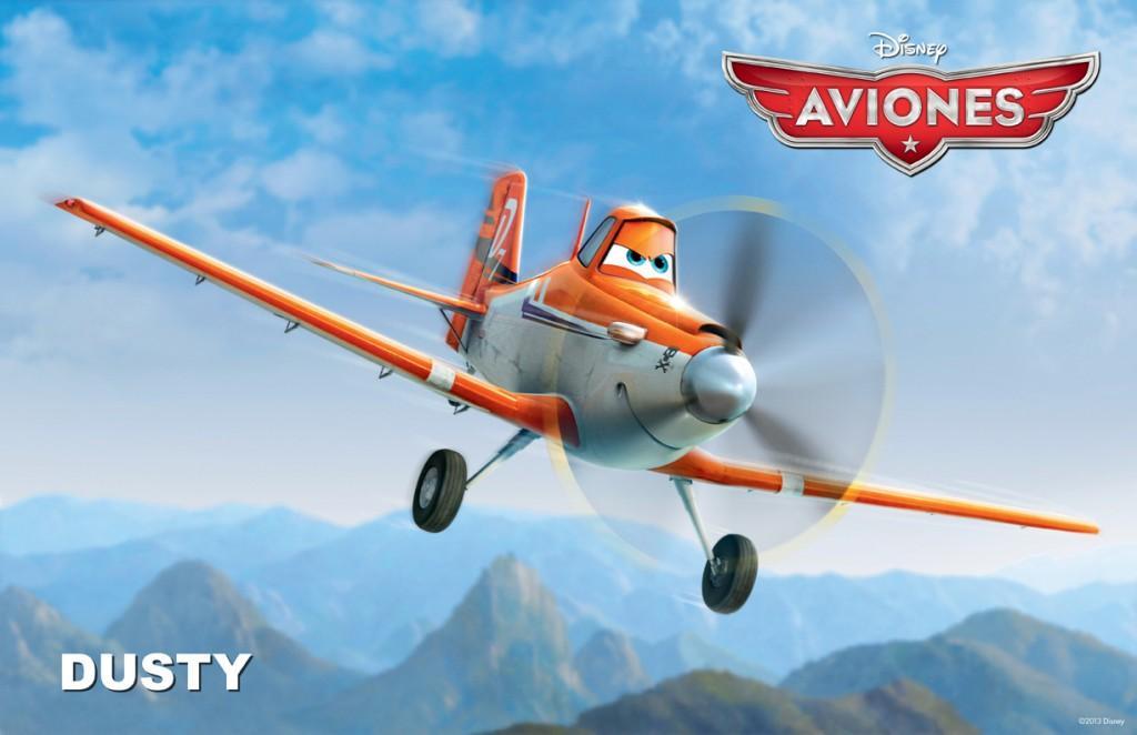 Dusty protagonista de la película Aviones de Disney