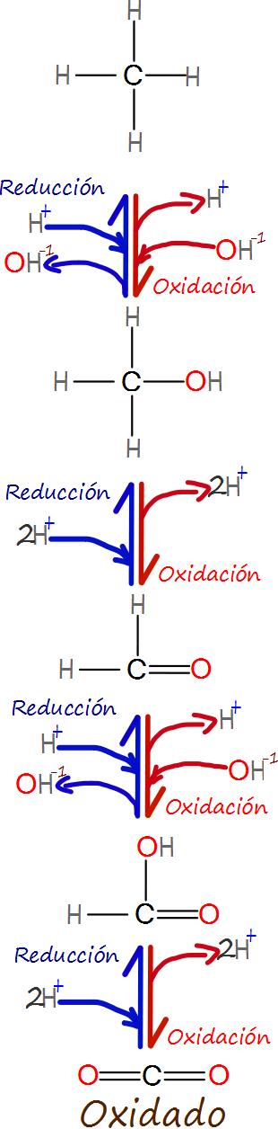 Oxidación y reducción en el contexto orgánico