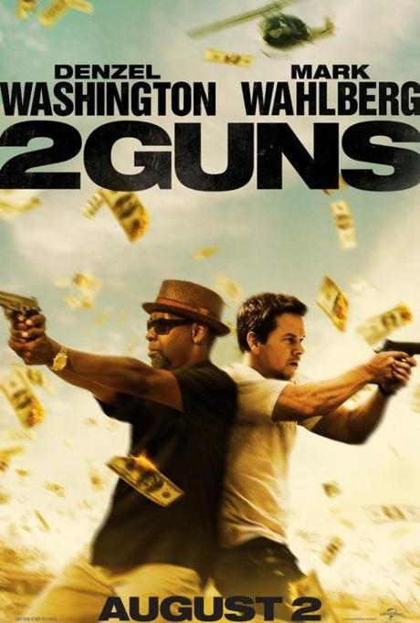 2 Guns poster Washington y Wahlberg