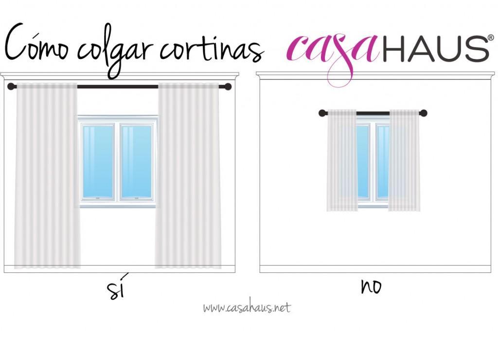 C mo colgar las cortinas para que las ventanas se vean - Que cortinas se llevan ...