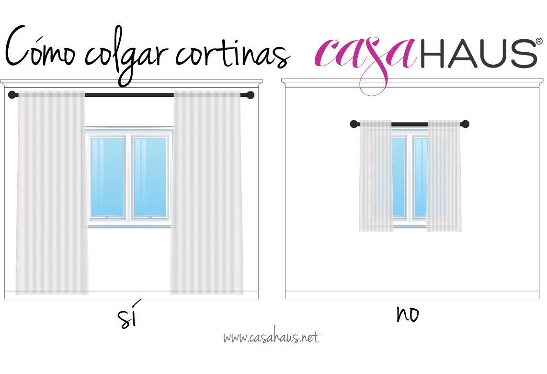 C mo colgar las cortinas para que las ventanas se vean - Para colgar cortinas ...