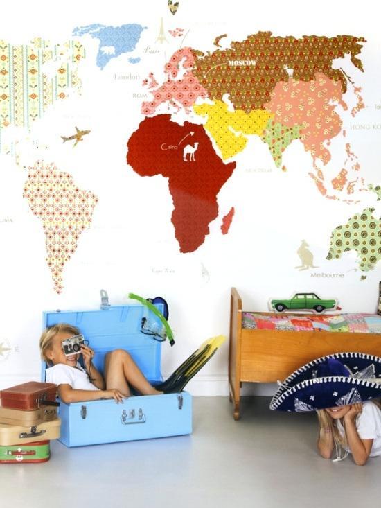 Dormitorios infantiles c mo decorar sus paredes - Pintar paredes infantiles ...