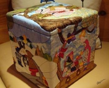 C mo hacer una caja de patchwork paperblog - Como hacer pachwork ...