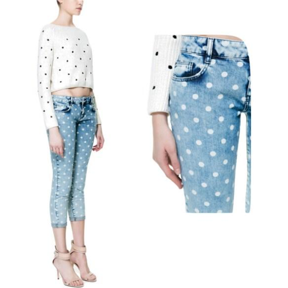 pantalon con lunares. Black Bedroom Furniture Sets. Home Design Ideas