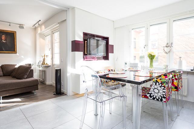 Un apartamento con elegantes toques de color paperblog for Cocina 13 metros cuadrados