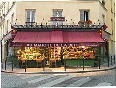 La tienda de frutas y verduras del Sr. Collignon, Rue des Trois Frères, París.