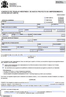 Modelo Contrato De Nuevos Proyectos De Emprendimiento