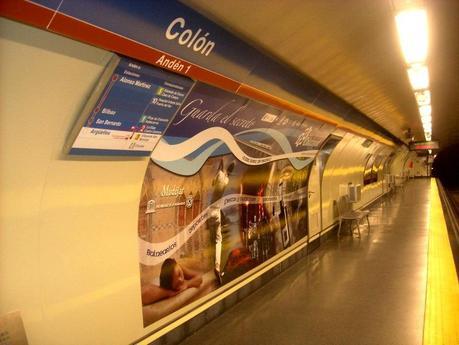Campaña promoción turística en Madrid Colón. Balneario Termas Pallarés