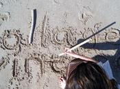 Writing sand...