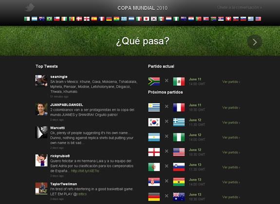 Twitter Copa del Mundo 2010