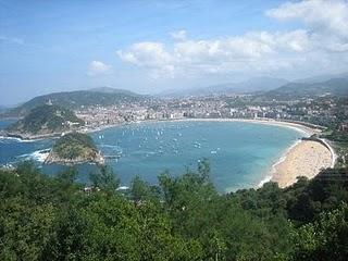 San Sebastián desde el monte Igueldo
