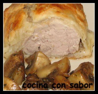 Solomillo de cerdo encebollado en hojaldre paperblog - Solomillo de cerdo encebollado ...