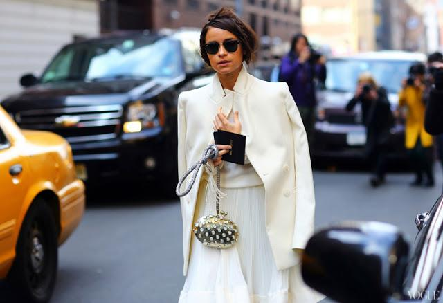 Miroslava Duma total white look