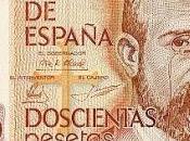 Escritores billetes antiguas pesetas