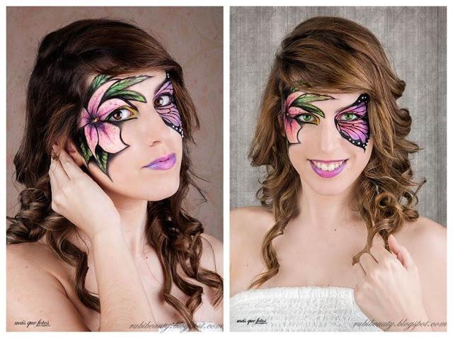 Maquillaje Fantasía | Mariposa y Flor (Butterly & Flower Makeup)