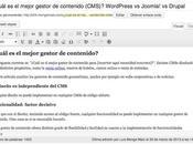 WordPress Joomla! Drupal, ¿cuál mejor gestor contenido (CMS)?