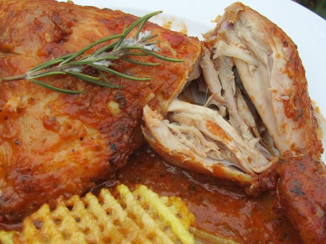 Pollo asado a la barbacoa