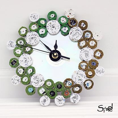 Un reloj con objetos reciclado ejimenez asociados - Objetos de reciclaje ...