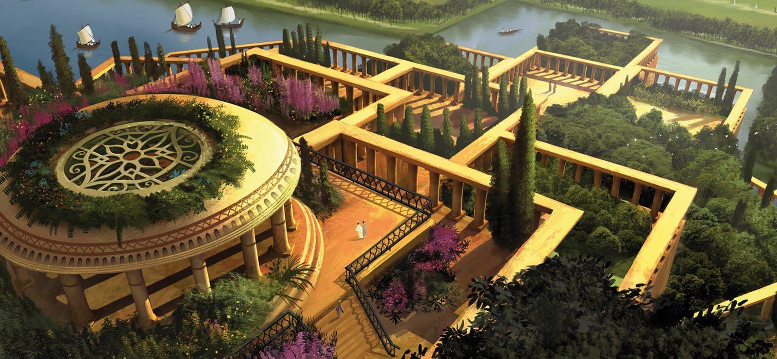 Los jardines colgantes de babilonia paperblog for Jardines colgantes babilonia
