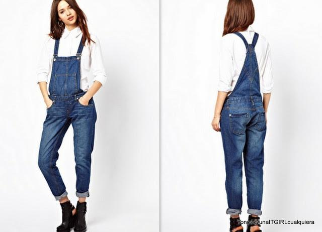 River Island denim dungaree