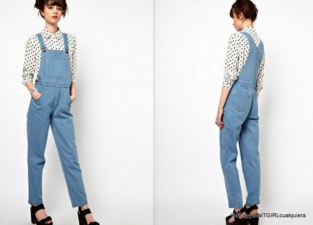 The white Pepper denim dungaree