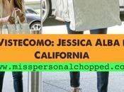 VISTE COMO: JESSICA ALBA California!