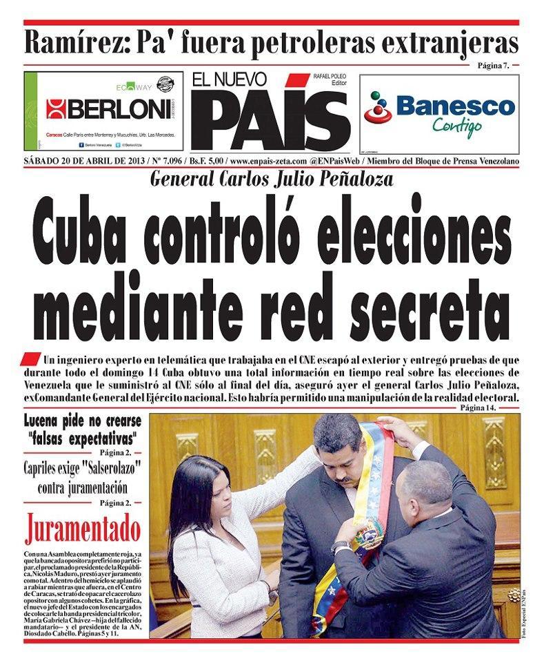 COMIENZA LA VERDAD DEL FRAUDE EN VENEZUELA