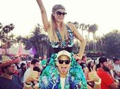 Paris Hilton fiesta Coachella Fest