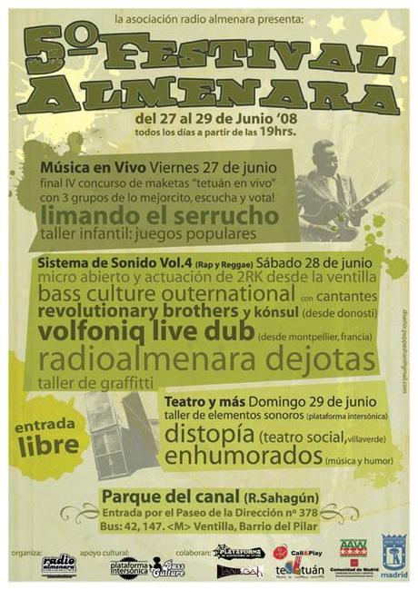 Cartel del 5º Festival de Radio Almenara (Foto: www.nochesprohibidas.org)