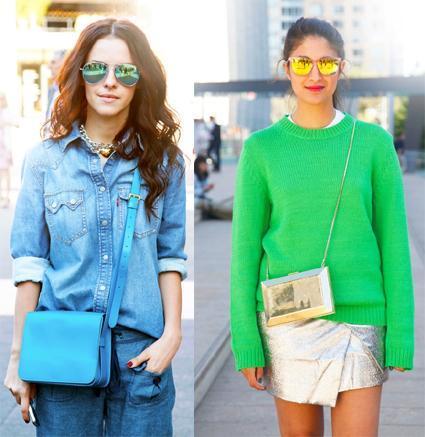 ss13 gafas de sol espejo street style 2 Tú decides: gafas de sol espejo, ¿si o no?