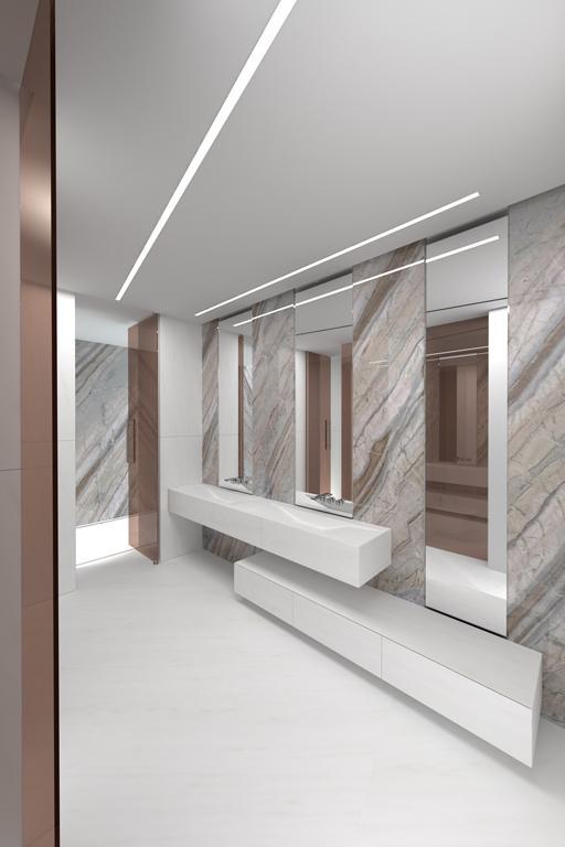 Dise os de cuartos de ba o para la vivienda proyectada por - Iluminacion led para banos ...