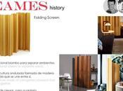 EAMES Folding Screen, Storage Units, Coffee table metal, Textiles 20th Century