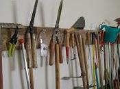 Soporte para herramientas jardinería Cuando dispone...