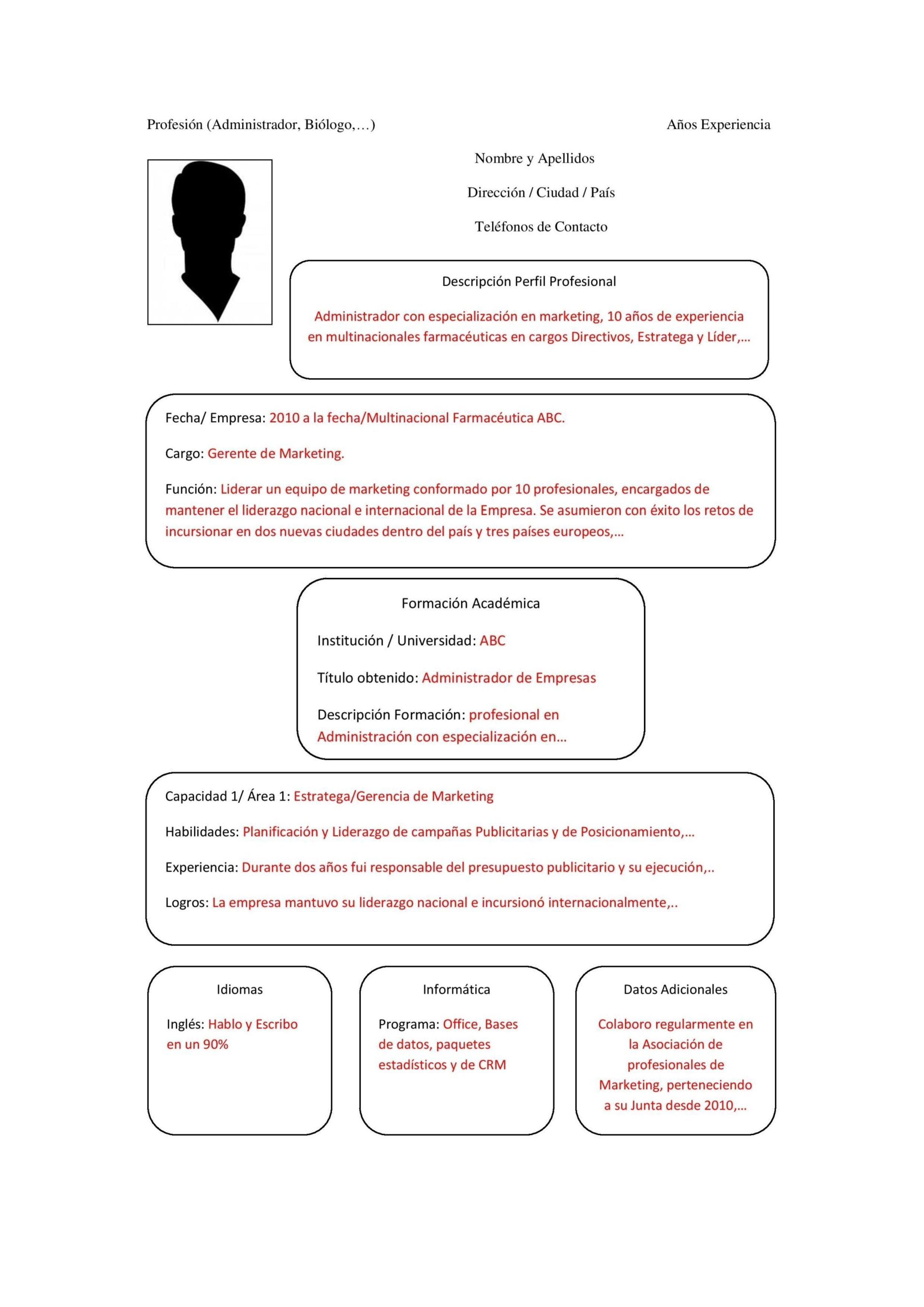 Modelo de plantilla de currículum Combinado - Paperblog