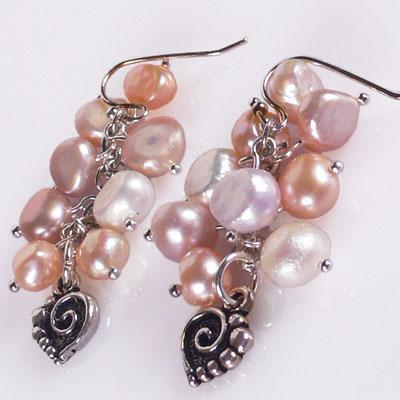 Pendientes racimo de perlas rosas paperblog - Fotos de pendientes ...