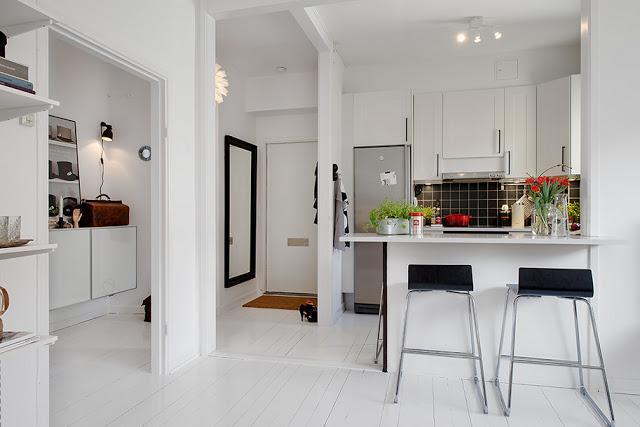Un apartamento de sencillez nordica paperblog for Cocina 13 metros cuadrados
