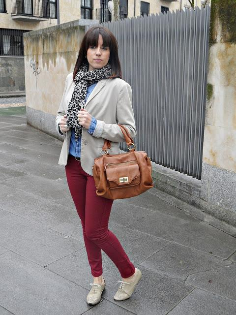 Beige And Burgundy