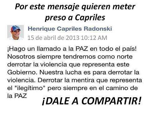 TODOS CONTRA EL PRESIDENTE CAPRILES!