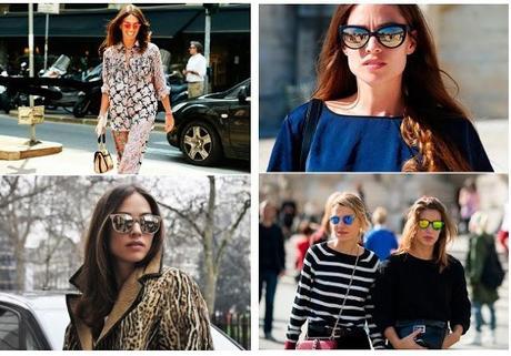Gafas espejo para reflejar el verano