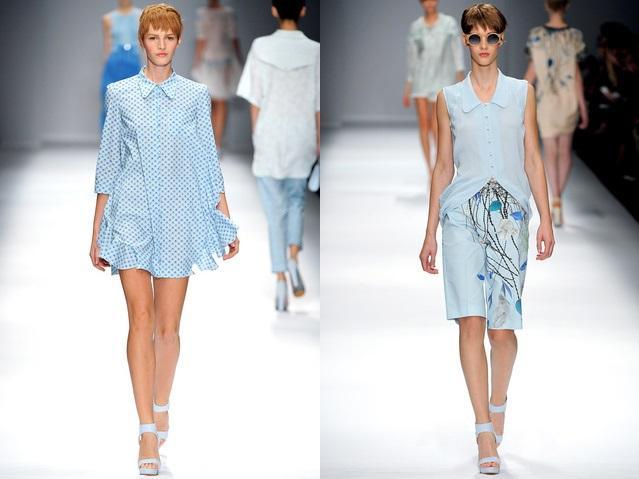 Vestido azul cielo con que zapatos combina